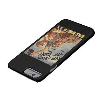 ¡De moda y apariencia vintage celebra la aviación Funda Barely There iPhone 6