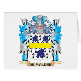 De-Molder Coat of Arms - Family Crest Large Greeting Card