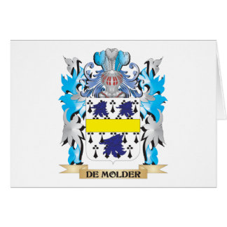 De-Molder Coat of Arms - Family Crest Stationery Note Card