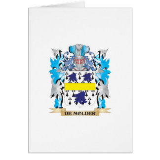 De-Molder Coat of Arms - Family Crest Greeting Card
