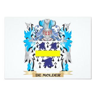 De-Molder Coat of Arms - Family Crest 5x7 Paper Invitation Card