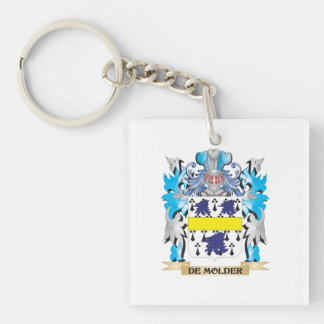De-Molder Coat of Arms - Family Crest Single-Sided Square Acrylic Keychain