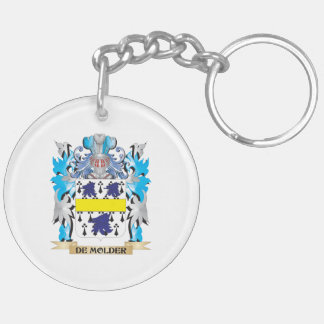 De-Molder Coat of Arms - Family Crest Double-Sided Round Acrylic Keychain