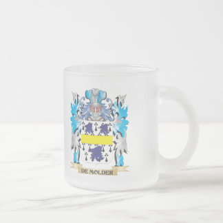 De-Molder Coat of Arms - Family Crest 10 Oz Frosted Glass Coffee Mug
