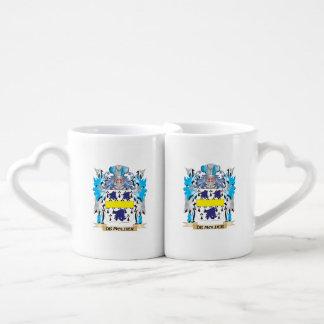 De-Molder Coat of Arms - Family Crest Couples' Coffee Mug Set
