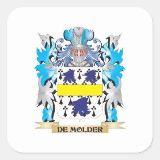 De-Molder Coat of Arms - Family Crest Square Sticker