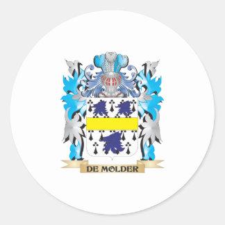 De-Molder Coat of Arms - Family Crest Classic Round Sticker