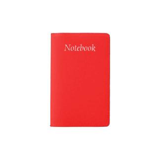 De Moleskine del cuaderno rojo uni Funda Para Libreta Y Libreta Pequeña Moleskine