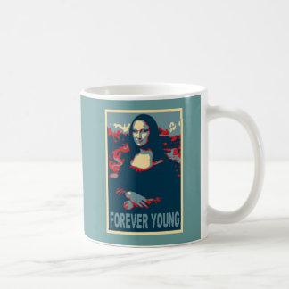 De Mona Lisa jóvenes para siempre Tazas De Café