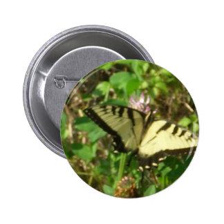 De monarca de la mariposa de la imagen cierre pin redondo de 2 pulgadas