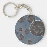 """de """"monedas de diez centavos caída """" llavero personalizado"""