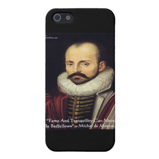 """de Montaigne """"Bedfellows"""" Wisdom Quote Gifts iPhone SE/5/5s Cover"""