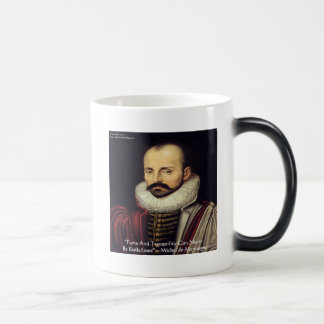 "de Montaigne ""Bedfellows"" Wisdom Quote Gifts Coffee Mug"