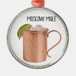 De Moscú de la mula del cobre de la taza diseño Adorno Navideño Redondo De Metal
