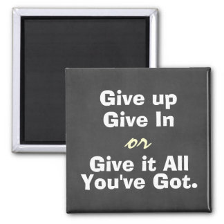 De motivación dé para arriba dan en cita imán cuadrado
