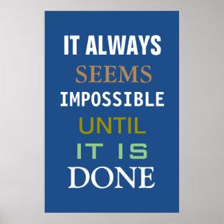 De motivación parece siempre poster imposible póster