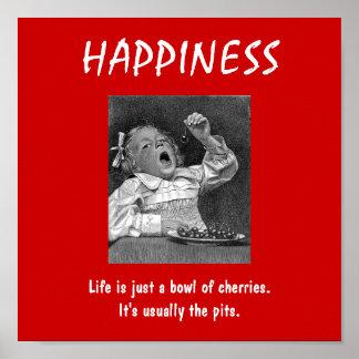 De-motivational Poster HAPPINESS