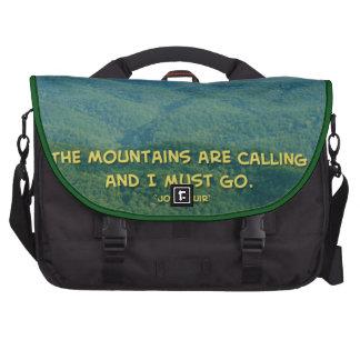 ¡De Mtns Mtns llamada ahumada verde enorme Bolsa Para Ordenador