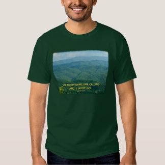 ¡De Mtns /Mtns llamada ahumada verde enorme! Playeras