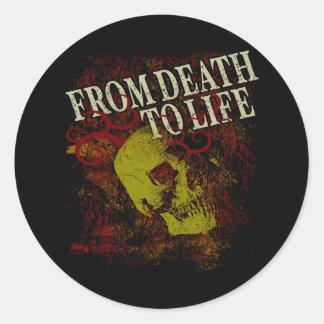 De muerte a la vida pegatina redonda