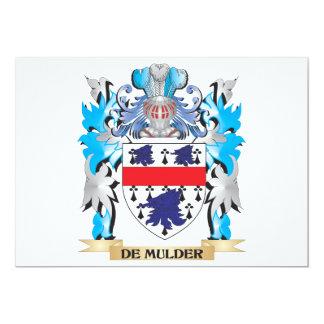 """De-Mulder escudo de armas - escudo de la familia Invitación 5"""" X 7"""""""