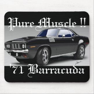 ¡De 'músculo puro 71 Barracuda!! Mousepad Tapetes De Ratones