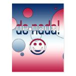 De Nada! America Flag Colors Pop Art Post Card