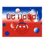 De Nada! Chile Flag Colors Pop Art Postcards