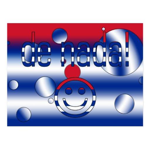 De Nada! Cuba Flag Colors Pop Art Post Card