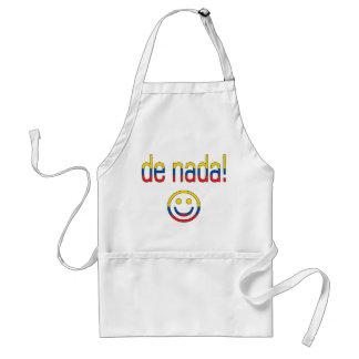 De Nada! Ecuador Flag Colors Adult Apron