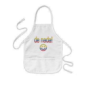 De Nada! Ecuador Flag Colors Kids' Apron