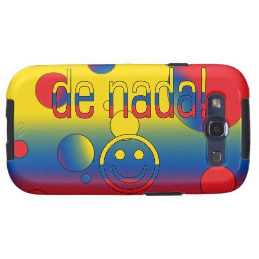 De Nada! Ecuador Flag Colors Pop Art Samsung Galaxy S3 Cover