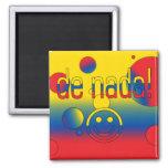 De Nada! Ecuador Flag Colors Pop Art Magnet