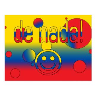 De Nada! Ecuador Flag Colors Pop Art Postcard