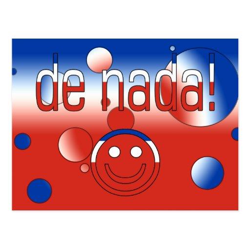 ¡De Nada! La bandera de Chile colorea arte pop Postal