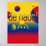 ¡De Nada! La bandera de Colombia colorea arte pop Poster