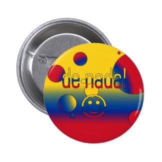 ¡De Nada La bandera de Colombia colorea arte pop Pins