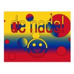 ¡De Nada! La bandera de Colombia colorea arte pop Postal