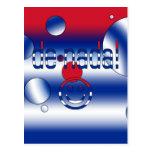 ¡De Nada! La bandera de Cuba colorea arte pop Postal