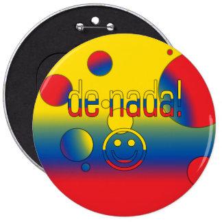 ¡De Nada La bandera de Ecuador colorea arte pop Pin