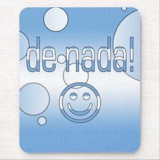 ¡De Nada! La bandera de la Argentina colorea arte Alfombrillas De Ratón