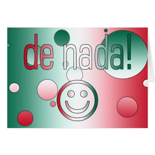 ¡De Nada! La bandera de México colorea arte pop Felicitaciones