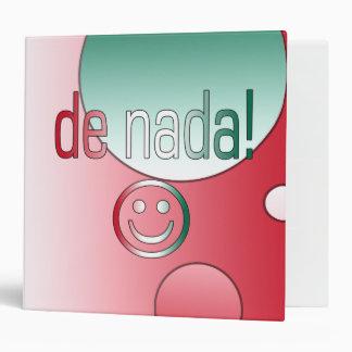 De Nada! Mexico Flag Colors Pop Art Binder