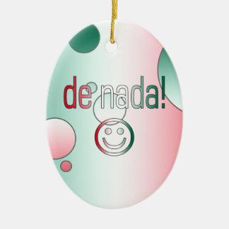 De Nada! Mexico Flag Colors Pop Art Christmas Ornaments