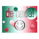 De Nada! Mexico Flag Colors Pop Art Post Card