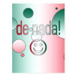 De Nada! Mexico Flag Colors Pop Art Postcard