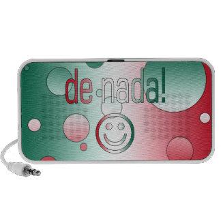De Nada! Mexico Flag Colors Pop Art Notebook Speakers