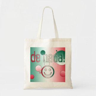 De Nada! Mexico Flag Colors Pop Art Tote Bag
