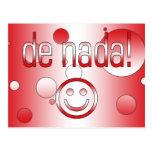 De Nada! Peru Flag Colors Pop Ar Post Cards