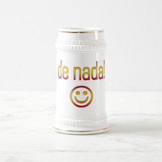 De Nada! Spain Flag Colors Beer Stein